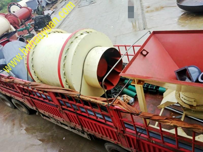 三筒沙子烘干机发往陕西汉中
